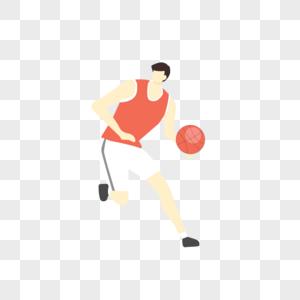打篮球人物矢量手绘插画图片