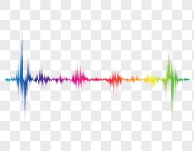 彩色波动线图片