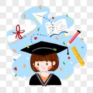毕业狂想插画图片