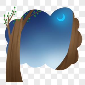 树边框图片