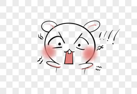 吃惊兔子表情包图片