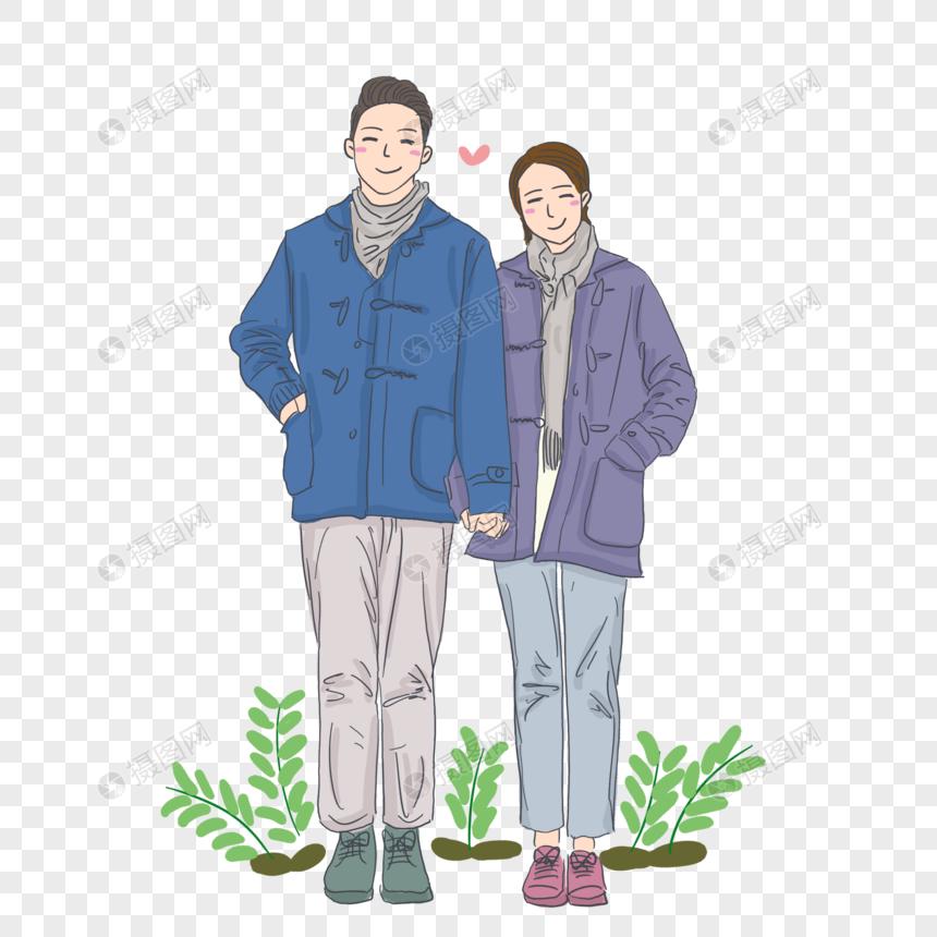 卡通人物节日情人节情侣图片