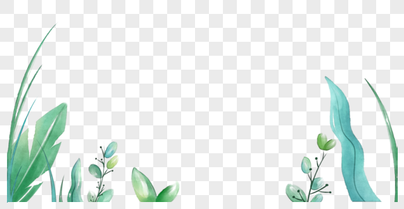 水彩植物图片