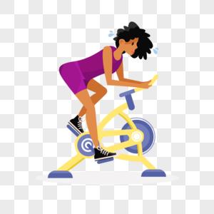 在健身房锻炼的女生图片