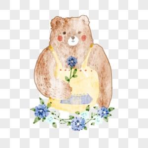 水彩小熊图片