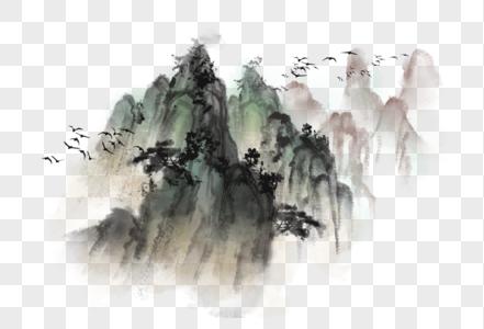 中国风写意水墨山水图片