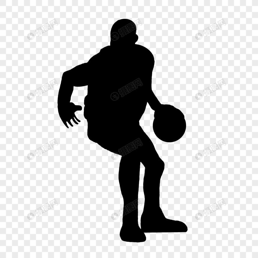 篮球运动剪影图片