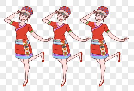 少数民族哈尼族美女跳舞图片