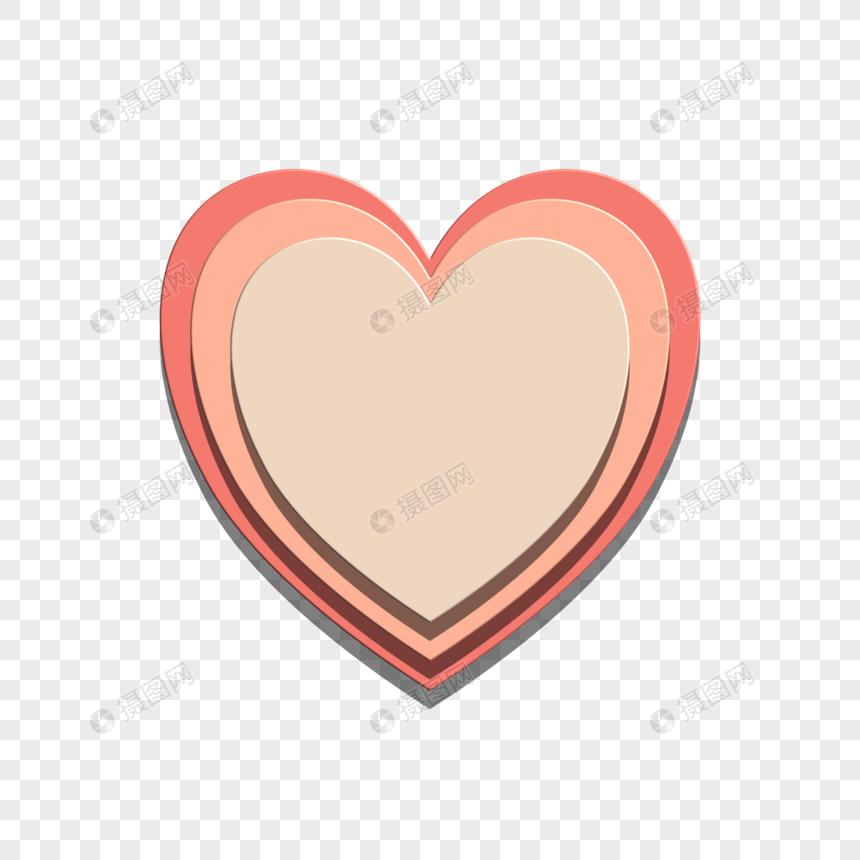 爱心几何背景标签图片