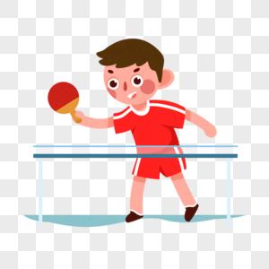 打乒乓球图片