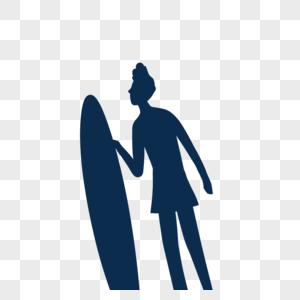 拿着冲浪板的男孩图片