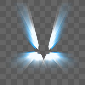 蓝色科技翅膀光效图片