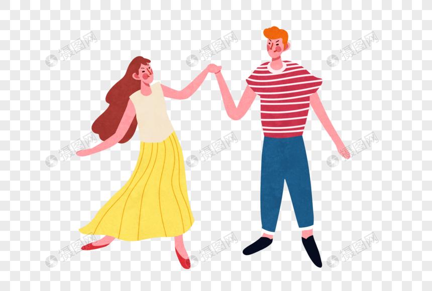 跳舞的情侣图片