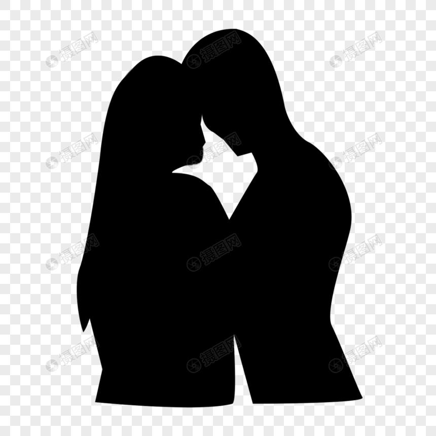 情侣剪影图片