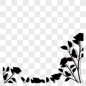 花卉边框剪影图片