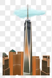 美国地标建筑——纽约世界贸易中心一号楼图片