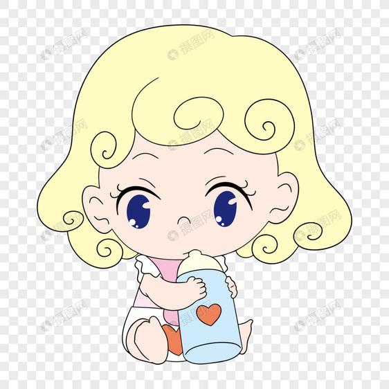 可爱吃奶外国小婴儿图片