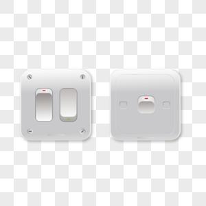 白色电源插座家电开关图片