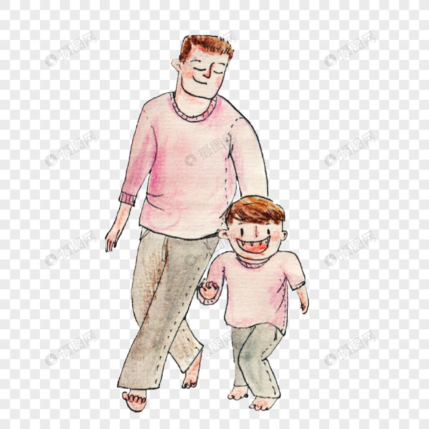 奔跑的父子图片