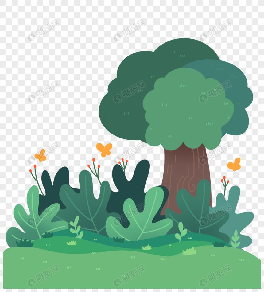 森林公园植物背景素材图片