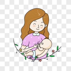 婴儿吃母乳图片