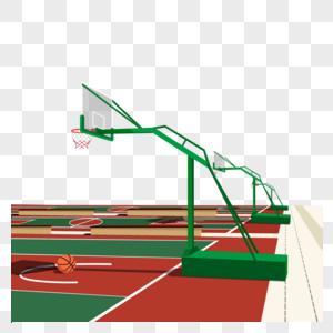 篮球场元素矢量图图片