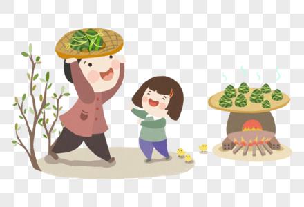 蒸粽子图片