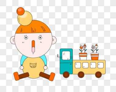 婴儿和玩具图片