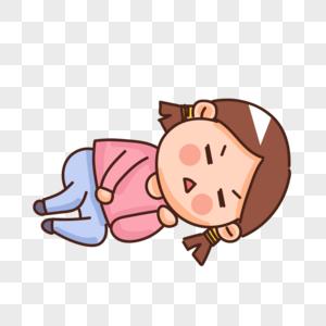大姨妈来了肚子疼的姑娘图片