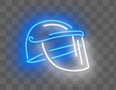 霓虹荧光头盔图片