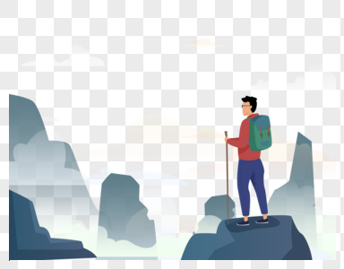 抽象旅行登山图片