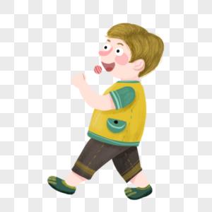 吃棒棒糖的小男孩图片
