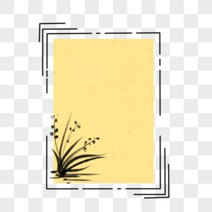 兰花边框图片