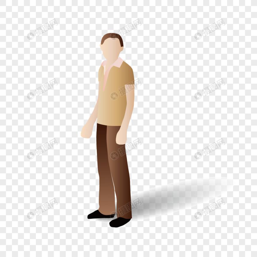 AI矢量图扁平化人物劳动人民男性辛苦人员图片