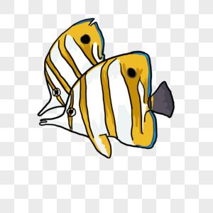 鲈形目珊瑚鱼元素图片