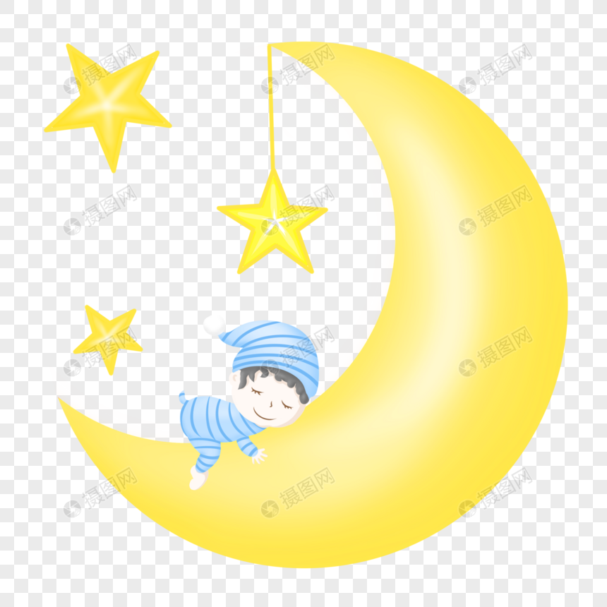 月亮上的小男孩图片