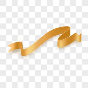 金黄色彩带图片