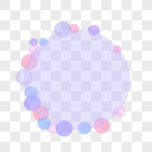 彩色泡泡圆形圆圈手绘简约边框背景图片