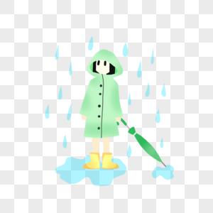 夏天穿着雨衣可爱小孩图片