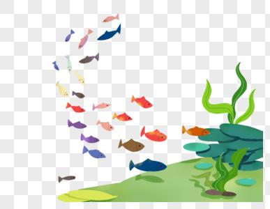 海底世界鱼群图片