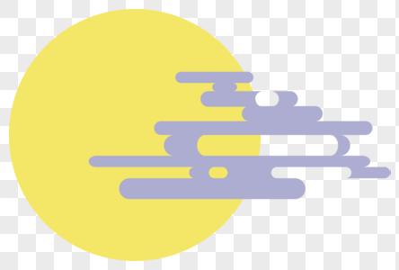 月亮和云图片