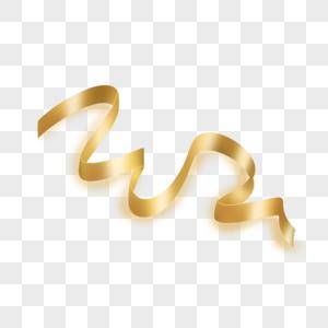 金黄色飘逸彩带图片