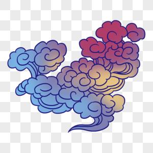 彩色祥云图片