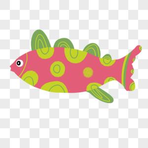 红色绿圆斑鱼图片