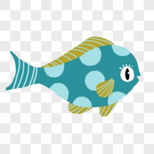 蓝色圆斑胖鱼图片