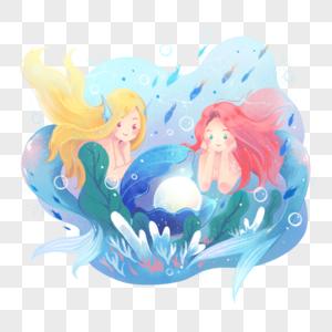 小美人鱼与珍珠图片