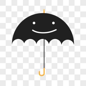 夏季雨天简约可爱小黑伞图片
