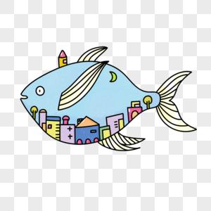 房屋和鱼图片