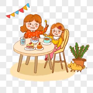 喂饭的妈妈学吃饭的小朋友图片