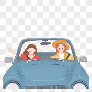 两个女孩毕业旅行图片